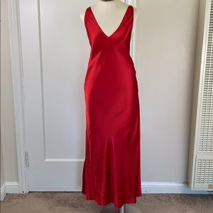 Frederick's of Hollywood classic red satin slip